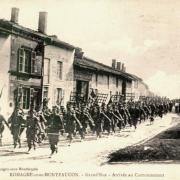 Romagne-sous-Montfaucon (Meuse) 1914-1918, arrivée du cantonnement CPA