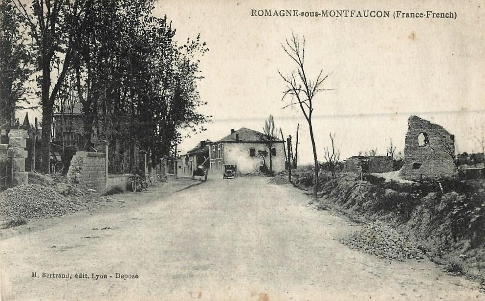 Romagne-sous-Montfaucon (Meuse) 1914-1918, ruines CPA2