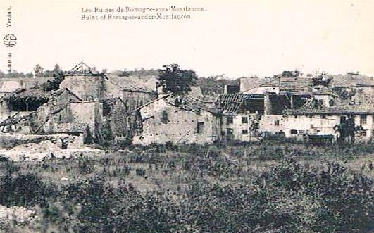 Romagne-sous-Montfaucon (Meuse) 1914-1918, ruines CPA7