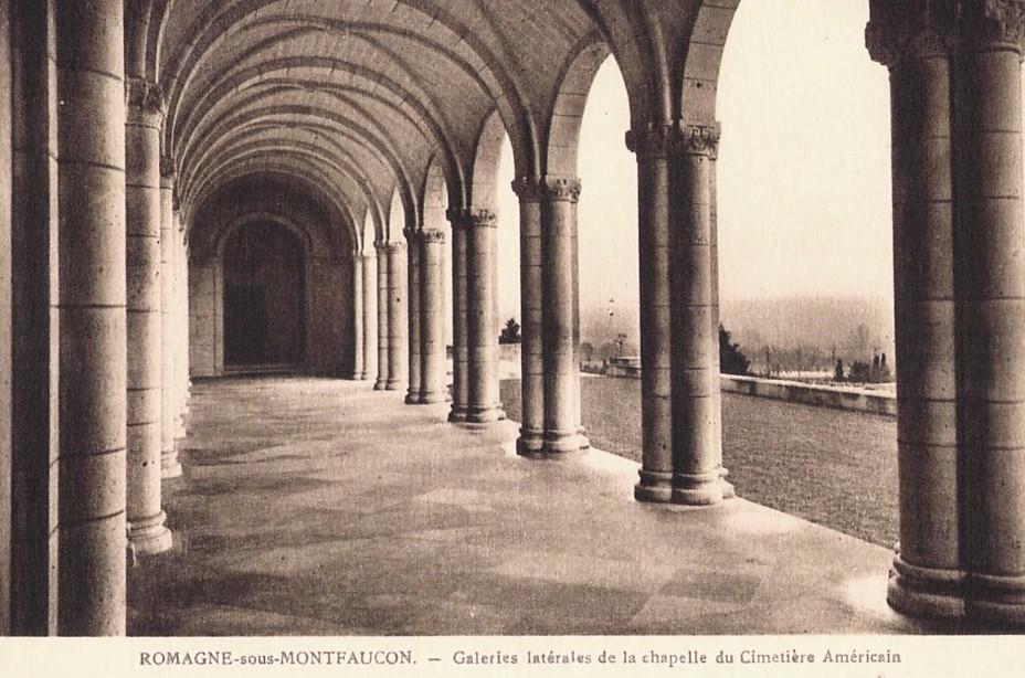 Romagne-sous-Montfaucon (Meuse) Cimetière américain, galeries CPA