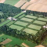 Romagne-sous-Montfaucon (Meuse) Cimetière américain, vue aérienne