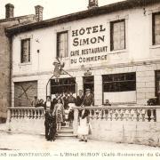Romagne-sous-Montfaucon (Meuse) L'Hôtel Simon CPA