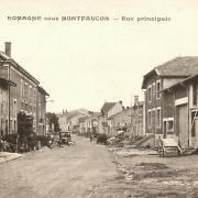 Romagne-sous-Montfaucon (Meuse)  La rue principale CPA