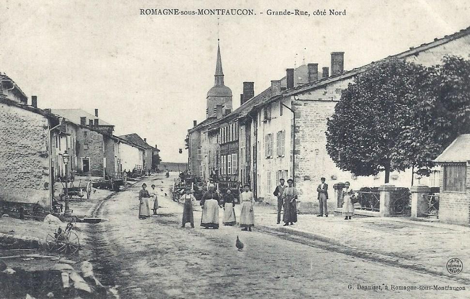 Romagne-sous-Montfaucon (Meuse)  La rue principale CPA4