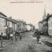 Romagne-sous-Montfaucon (Meuse)  La rue principale CPA7