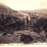 Roquefort-sur-Soulzon (Aveyron) CPA ruines de l'église Saint-Pierre