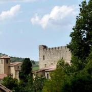 Roquetaillade (Aude) L'église et le château