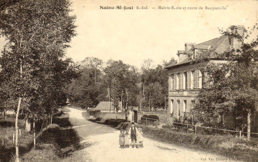 Saâne-Saint-Just (Seine Maritime) Mairie-école CPA