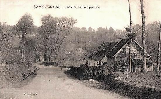 Saâne-Saint-Just (Seine Maritime) Route de Bacqueville CPA