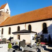 Saessolsheim 67 l eglise saint jean baptiste et le cimetiere