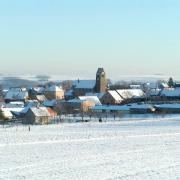 Saessolsheim 67 vue generale sous la neige