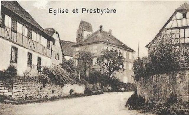 Saessolsheim 69 l eglise et le presbytere cpa