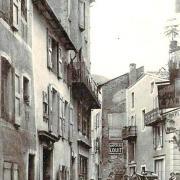 Saint-Affrique (Aveyron) CPA la rue de Castelnau