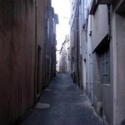Saint-Affrique (Aveyron) la rue du Théron