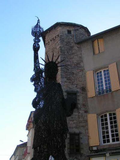 Saint-Affrique (Aveyron) la statue de la Liberté