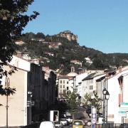 Saint-Affrique (Aveyron) le boulevard Victor Hugo
