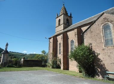 Saint-Affrique (Aveyron) Le Cambon, l'église Saint-Martin