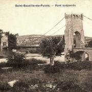 Saint-Bauzille-de-Putois (Hérault) Le pont suspendu CPA