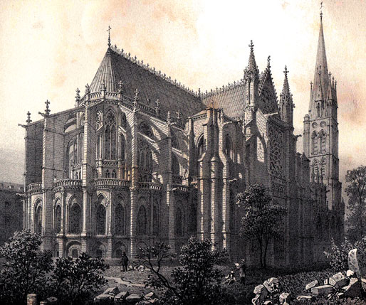 Saint-Denis, La basilique CPA