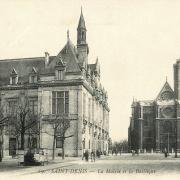 Saint denis seine saint denis l hotel de ville et la basilique cpa