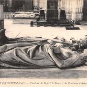 Saint denis seine saint denis la basilique tombeau de constance d arles et robert le pieux cpa