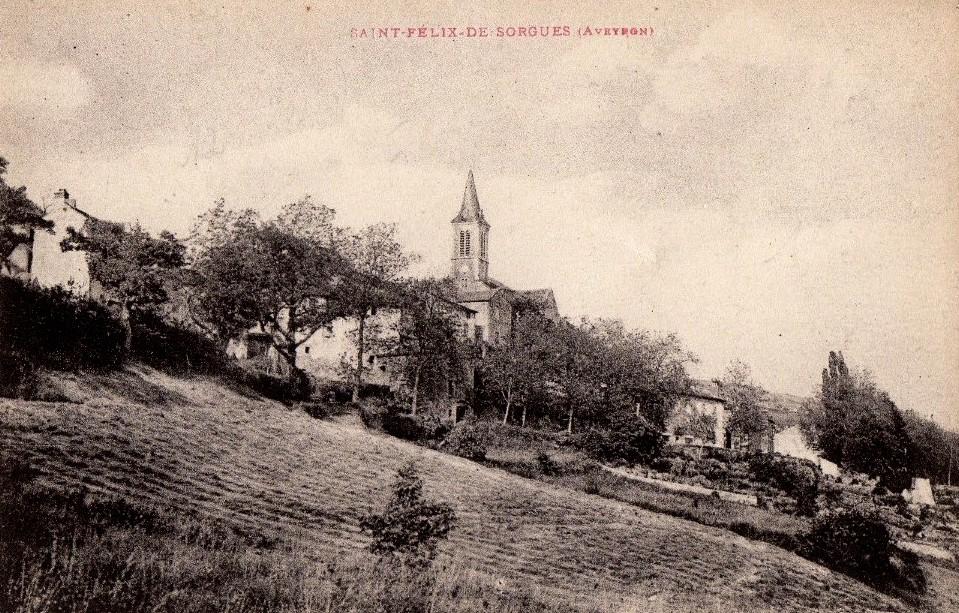 Saint-Félix-de-Sorgues (Aveyron) CPA Vue générale