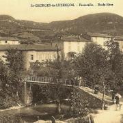 Saint-Georges-de-Luzençon (Aveyron) La passerelle