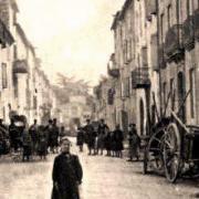 Saint-Georges-de-Luzençon (Aveyron) La rue principale en 1906