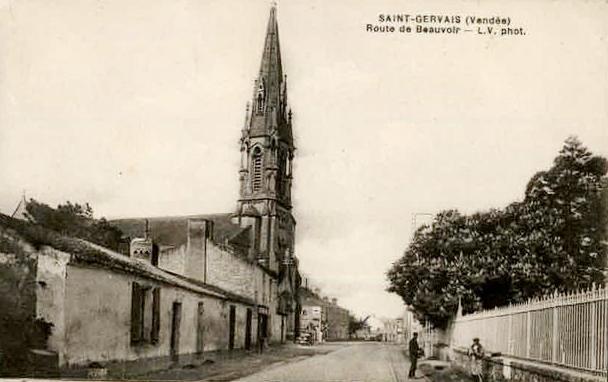 Saint-Gervais (Vendée) La route de Beauvoir CPA
