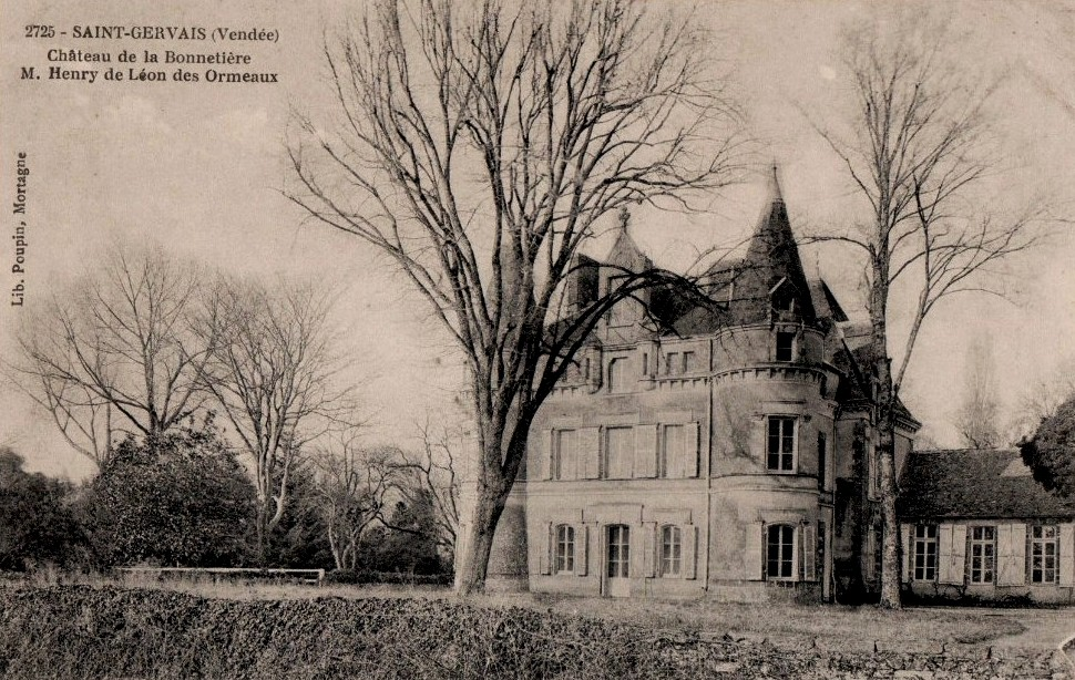 Saint-Gervais (Vendée) Le château de la Bonnetière CPA