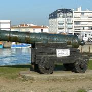 Saint-Gilles-Croix-de-Vie (Vendée) Canon anglais coulé à Noirmoutier en 1747