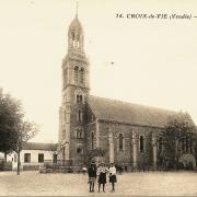 Saint-Gilles-Croix-de-Vie (Vendée) L'église Sainte Croix CPA