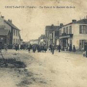 Saint-Gilles-Croix-de-Vie (Vendée) La gare, sortie du train CPA