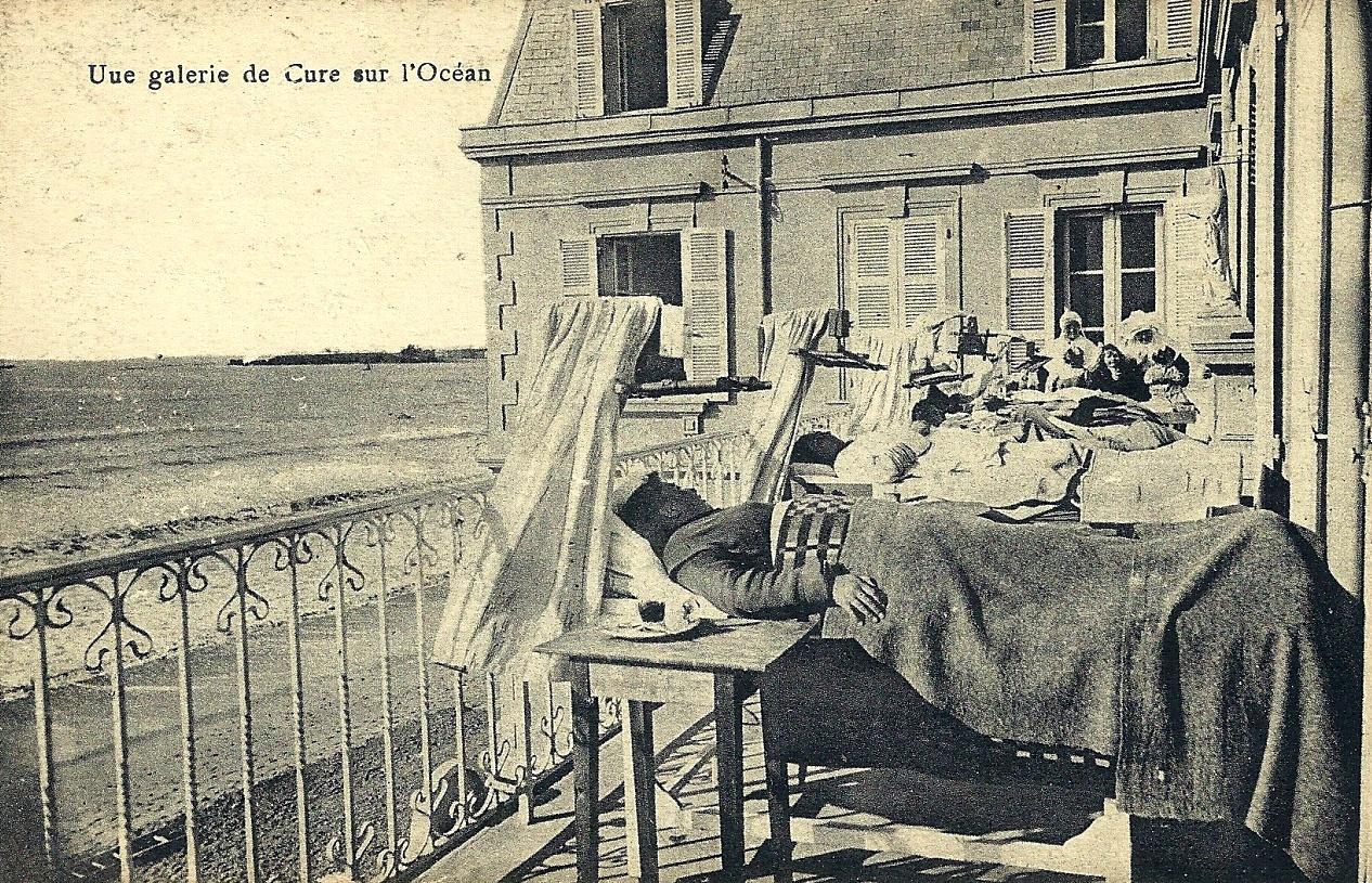 Saint-Gilles-Croix-de-Vie (Vendée) La villa Notre-Dame, les curistes CPA