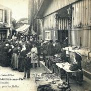 Saint-Gilles-Croix-de-Vie (Vendée) Le marché CPA