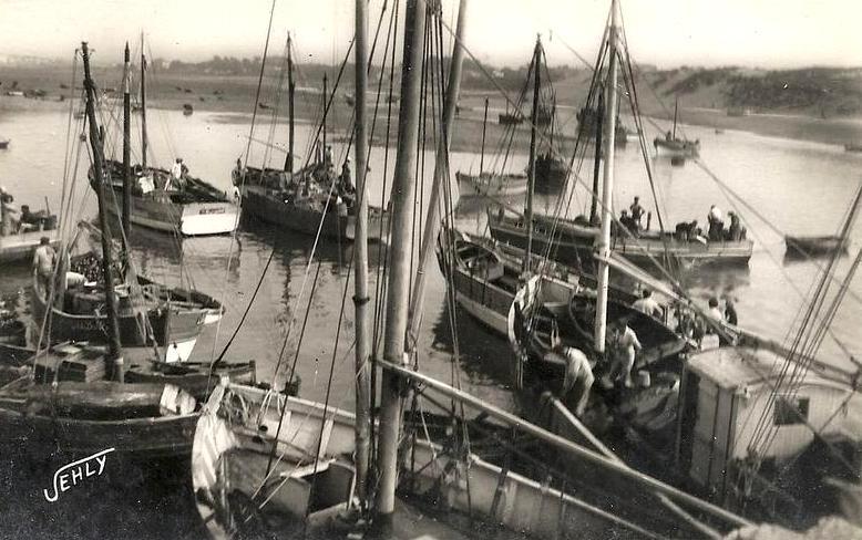 Saint-Gilles-Croix-de-Vie (Vendée) Le port CPA