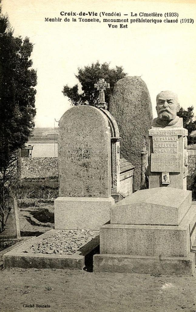 Saint-Gilles-Croix-de-Vie (Vendée) Tombe Marcel Baudouin CPA
