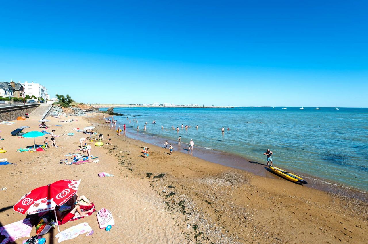 Saint-Hilaire-de-Riez (Vendée) La plage de la Pelle à Porteau