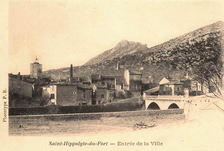 Saint-Hippolyte-du-Fort (Gard) CPA L'entrée de la ville en 1902