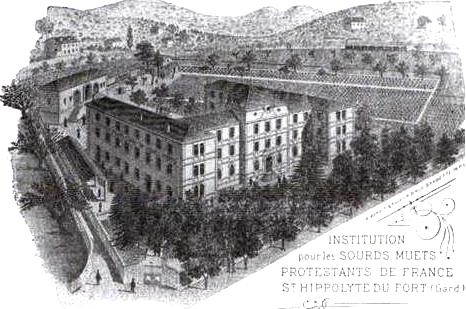Saint-Hippolyte-du-Fort (Gard) CPA L'Institution des sourds-muets