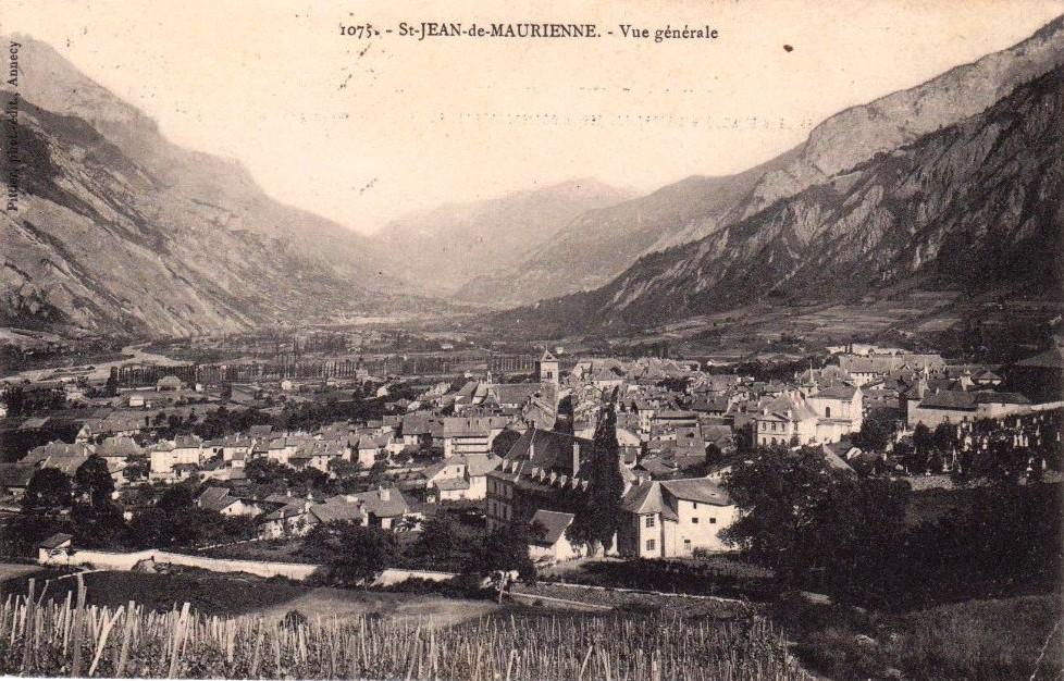 Saint-Jean-de-Maurienne (Savoie) Vue générale CPA