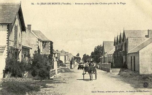 Saint-Jean-de-Monts (Vendée) L'avenue des chalets CPA