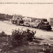 Saint-Jean-de-Monts (Vendée) La gare CPA