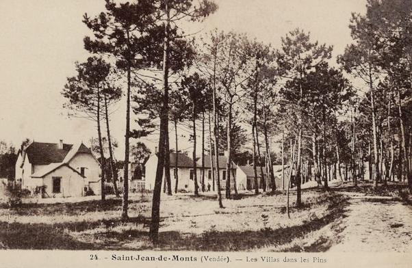 Saint-Jean-de-Monts (Vendée) Les villas CPA
