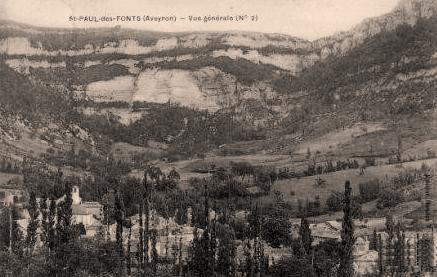 Saint-Jean-et-Saint-Paul (Aveyron) CPA Saint-Paul-des-Fonts  en 1913