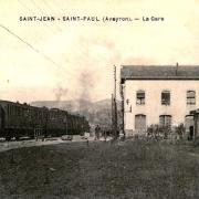 Saint-Jean-et-Saint-Paul (Aveyron) CPA Saint-Paul-des-Fonts, gare