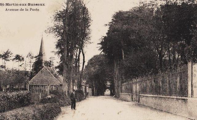 Saint-Martin-aux-Buneaux (Seine Maritime) Avenue de la Poste CPA