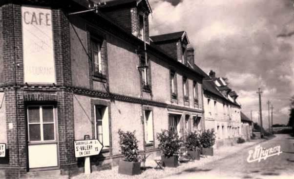 Saint-Martin-aux-Buneaux (Seine Maritime) Café Durand CPA