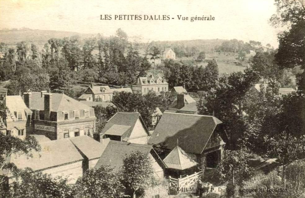 Les Petites Dalles, vue générale CPA