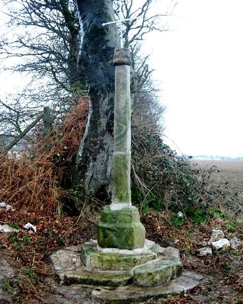 Saint-Martin-aux-Buneaux (Seine Maritime) Tournetot, croix de grès